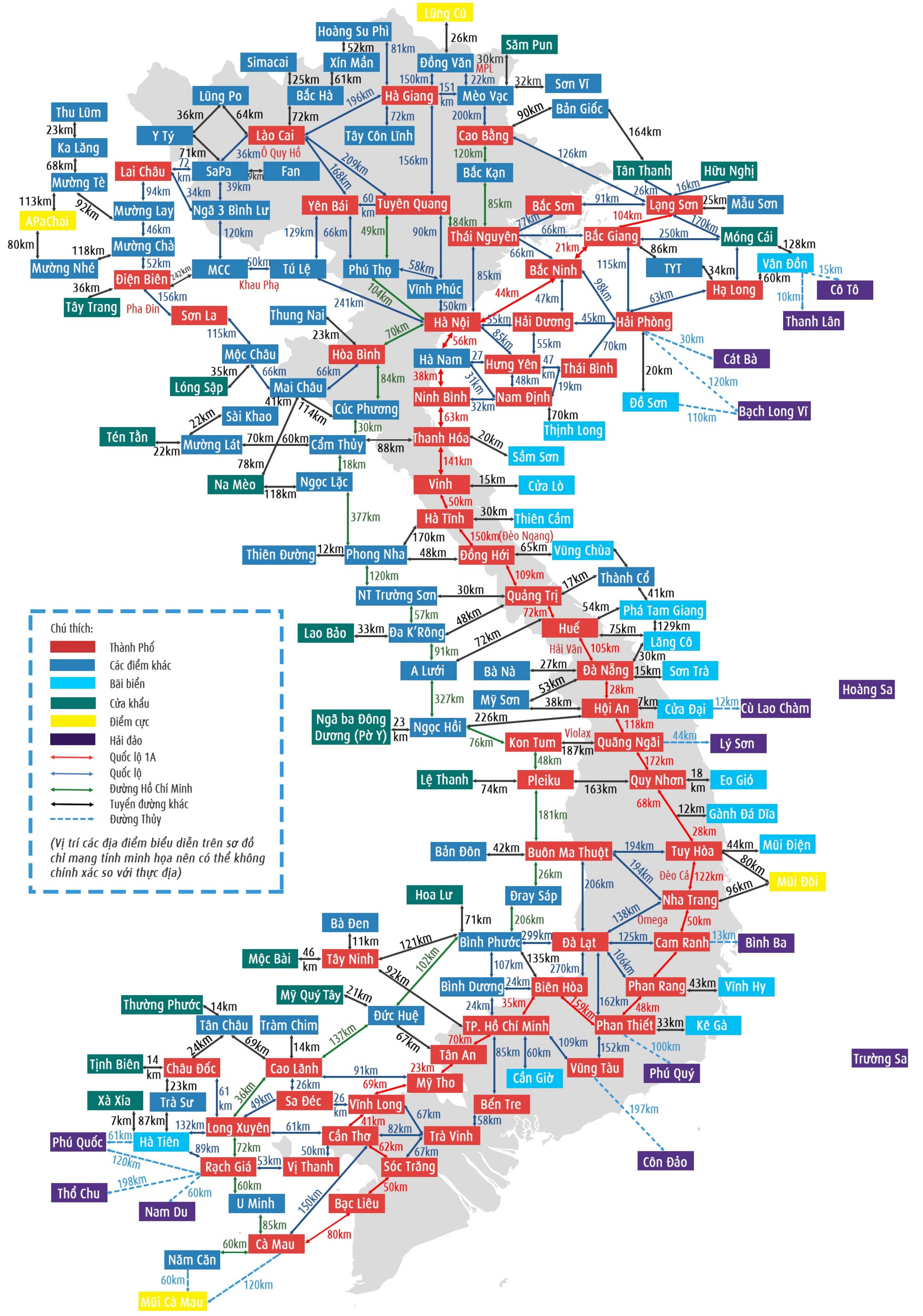Bản đồ Việt Nam Chi Tiết Phong To Mới Nhất 2020